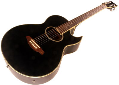 Black-Brown Acoustic Guitar