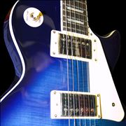 Blue-White Electric Guitar